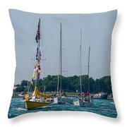 Sailing North Throw Pillow