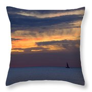 Sailing On A Paint Brush Throw Pillow