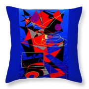 Sailing On An Open Sea Throw Pillow