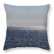 Sailing On Lake Pontchartrain Throw Pillow