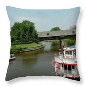 Sailing On The Cass Throw Pillow