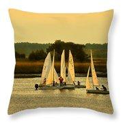 Sailing Practice Throw Pillow