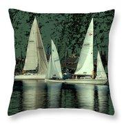 Sailing Reflections Throw Pillow
