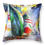 Sailing Regatta Throw Pillow
