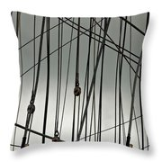 Sailing Rhythm Throw Pillow