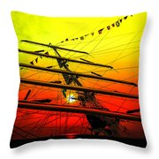 Sailing Romance 4 Throw Pillow