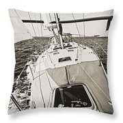 Sailing Sailboat Charleston Sc Bridge Throw Pillow