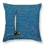 Sailing Solo Throw Pillow
