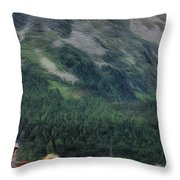 Sailing St Moritz Throw Pillow