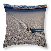 Sailing Stones Collide On The Racetrack Playa  Throw Pillow