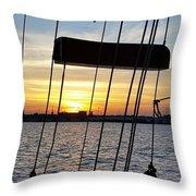 Sailing Summers Throw Pillow