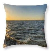 Sailing Sunset Throw Pillow