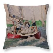 Sailing Teamwork Throw Pillow