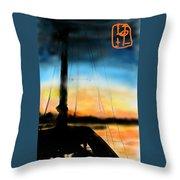 Sailing The Amalfi Coast Throw Pillow