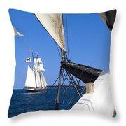 Sailing The Atlantic Throw Pillow