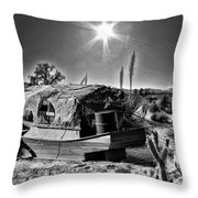 Sailing The Desert Throw Pillow