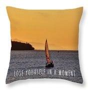 Sailing The English Bay Quote Throw Pillow