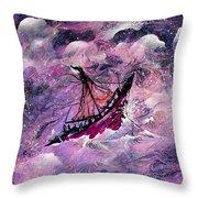 Sailing The Heavens Throw Pillow