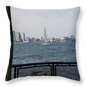 Sailing The Hudson River 1 Throw Pillow