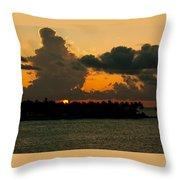 Sailing The Keys At Sunset Throw Pillow
