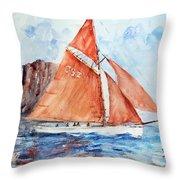 Sailing The Open Sea... Throw Pillow