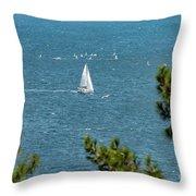 Sailing The Sea Of Marmara Throw Pillow