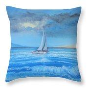 Sailing Through The Storm Throw Pillow