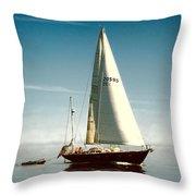 Sailing Through The Watch Hill Pass. Throw Pillow