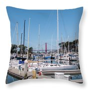 Sailing To The Golden Gate Throw Pillow