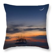 Sailing To The Moon 2 Throw Pillow by Mike McGlothlen