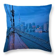 Sailing To The Present Throw Pillow