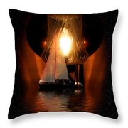 Sailing Under The Stars Throw Pillow