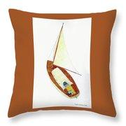 Sailing Watercolor Throw Pillow