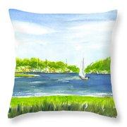 Sailing Wexford Throw Pillow