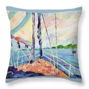 Sailing - Wind In Your Face Throw Pillow