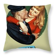 Sailor Beware - Loose Talk Can Cost Lives Throw Pillow by War Is Hell Store