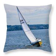 Sailor Coming Home Throw Pillow