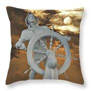 Sailor In Coming Storm Throw Pillow