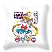 Sailor Meow Throw Pillow