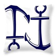 Sailors Anchor Throw Pillow