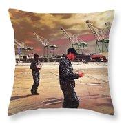 Sailors And Food Trucks Throw Pillow