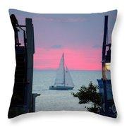 Sailors De Light  Throw Pillow