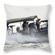 Sailors Patrol Kuwait Naval Bases Throw Pillow