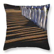 Sailors Stand At Parade Rest Throw Pillow