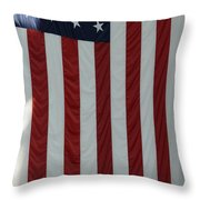 Sailors Stand In Front Of The American Throw Pillow