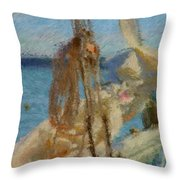 Sails And Ropes Throw Pillow