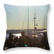 Sails And Sunsets Throw Pillow