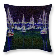 Sails At Sunrise Throw Pillow
