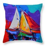 Sails Colors Throw Pillow
