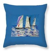 Sails IIi Throw Pillow